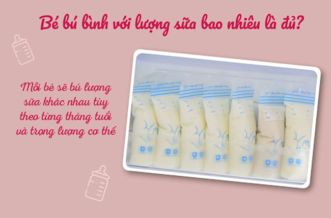 Bé bú bình với lượng sữa bao nhiêu là đủ?