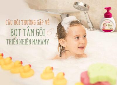 Câu hỏi thường gặp về Bọt tắm gội thiên nhiên Mamamy