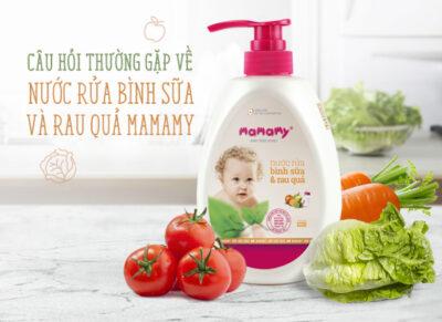 Câu hỏi thường gặp về Nước rửa bình sữa và rau quả Mamamy
