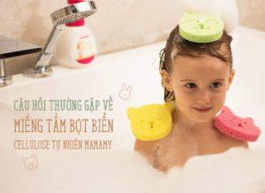 Câu hỏi thường gặp về Miếng tắm bọt biển cellulose tự nhiên Mamamy