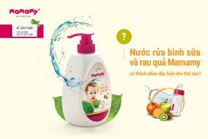 Nước Rửa Bình Sữa Và Rau Quả Mamamy Có Thành Phần Đặc Biệt Như Thế Nào?