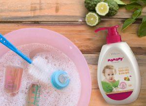 Thành phần nước rửa bình sữa an toàn cho bé yêu thoải mái ăn uống