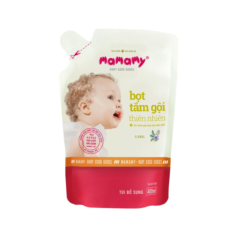 [Quà tặng] Bọt tắm gội thiên nhiên Mamamy 400ml