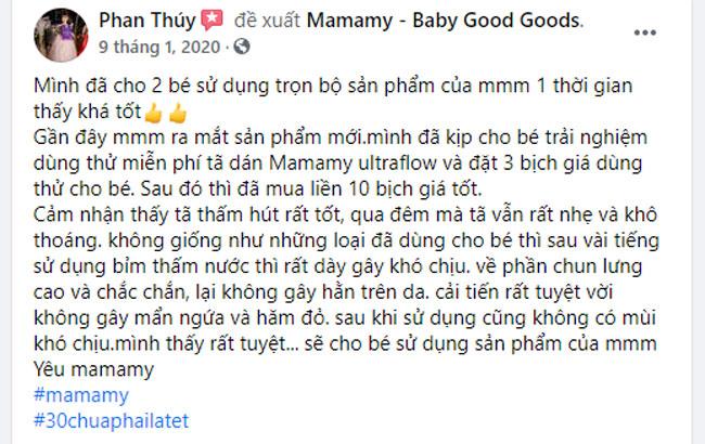 Mẹ Phan Thúy chia sẻ