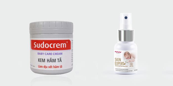 Một số sản phẩm giúp xử lý hăm tã cho bé dạng bôi và dạng xịt