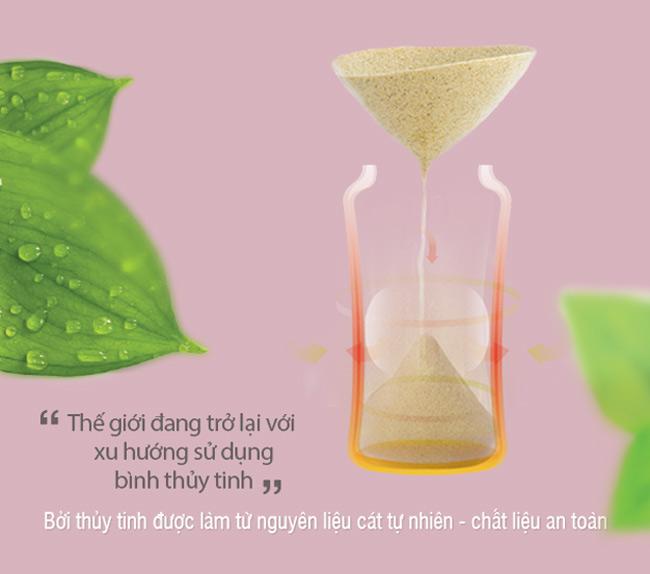 Bình sữa thủy tinh an toàn hơn với bé