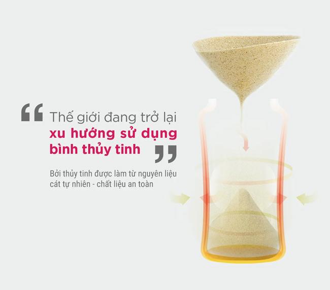So với bình nhựa, bình thủy tinh Mamamy vừa không giải phóng BPA, vừa hạn chế được trầy xước bình - khu vực vi khuẩn dễ tích tụ gây bệnh cho bé