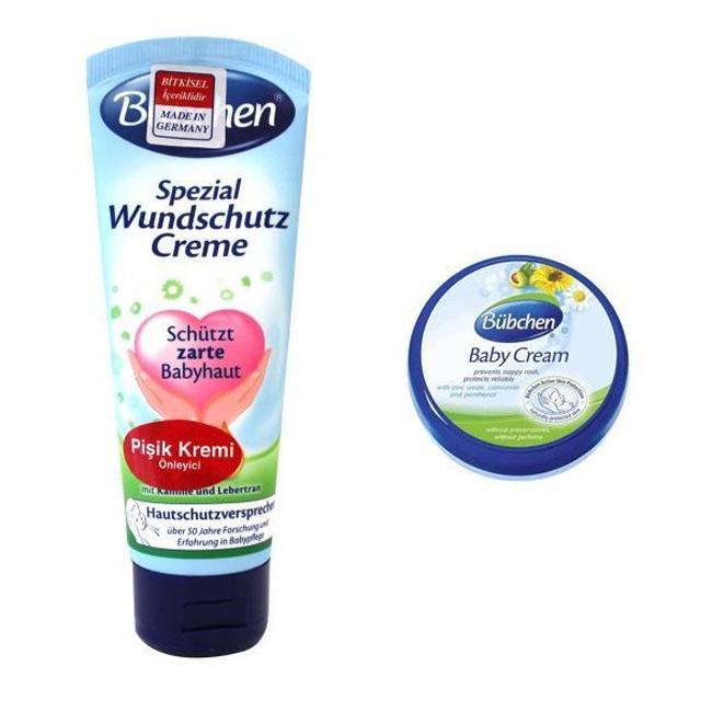 Bubchen có 2 loại, kem dạng hũ có tác dụng ngừa hăm, còn dạng tuýp đặc biệt có tác dụng xử lý hăm cho bé.