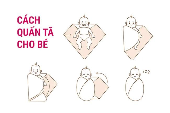Cách quấn bé ngủ ngon