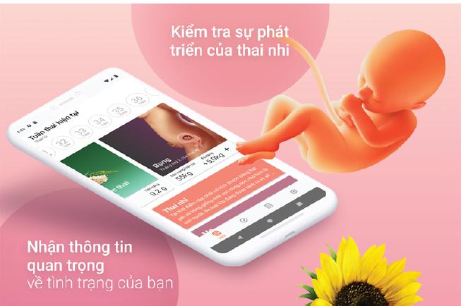 Sử dụng app Theo dõi thai kỳ để chủ động khám thai và tính ngày dự sinh dễ dàng