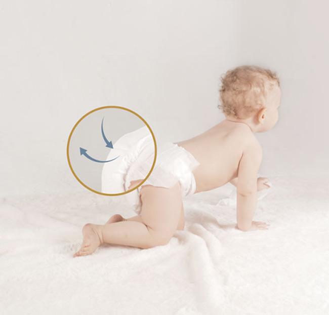 Bỉm mỏng nhẹ sẽ đem đến sự thoải mái cho bé trong ngày hè nóng nực