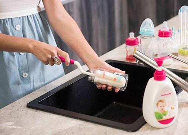 Nước rửa bình sữa là lựa chọn tốt nhất để bảo vệ hệ tiêu hóa cho bé