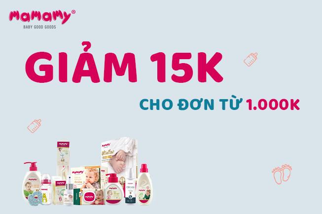 Giảm giá 15k + FREESHIP đơn hàng 1000k