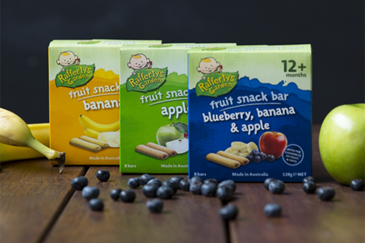 Thanh bánh trái cây Rafferty's Garden là một loại bánh dinh dưỡng cho bé 2 tuổi được làm từ các loại nguyên liệu hoàn toàn tự nhiên