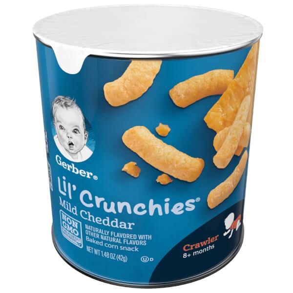 Bánh ăn dặm Gerber Lil Crunchies là loại đồ ăn nhanh siêu bổ dưỡng dành cho bé