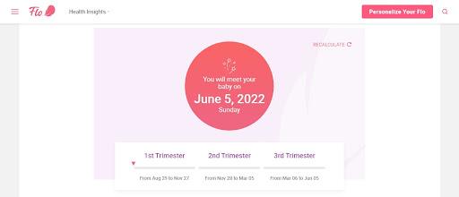 Công cụ tính ngày dự sinh Online Flo Health