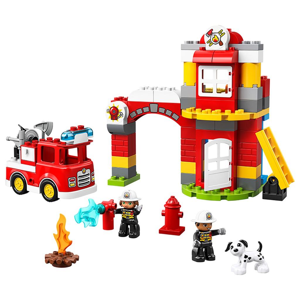 Lego Duplo: Trạm Cứu Hỏa 10901 - Đồ chơi lego cho bé 2 tuổi
