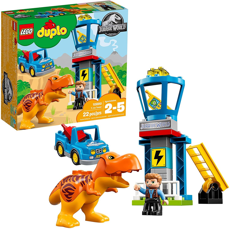 Lego Duplo: Bộ tháp Jurassic World T.rex Tower 10880 - đồ chơi lego cho bé 2 tuổi