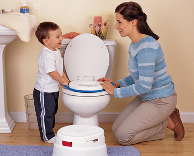 Mẹ cùng con đặt tên cho việc đi vệ sinh